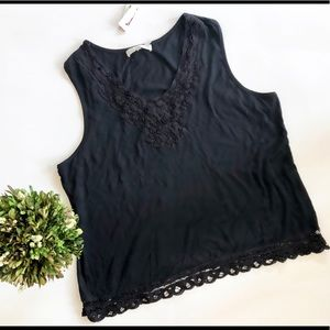 NWT Solitare Lace Embellished Sleeveless Top - 3x